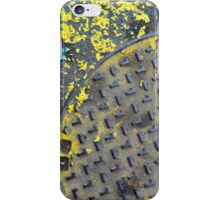 industrial street background iPhone Case/Skin