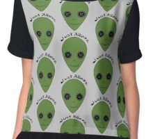 Just Aliens Chiffon Top