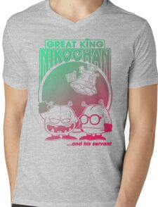 Nikochan Mens V-Neck T-Shirt