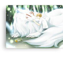 Natsume and Nyanko Sensei  Canvas Print