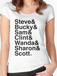 Team Cap Women's Fitted Scoop T-Shirt