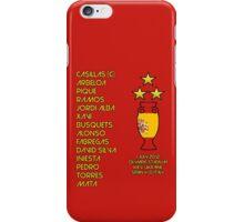 Spain 2012 Euro Winners iPhone Case/Skin