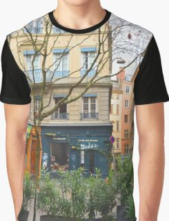 colorful french village  Graphic T-Shirt