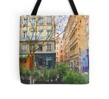 colorful french village  Tote Bag