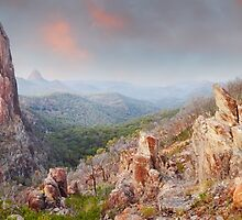 Crator Bluff, Warrumbungles National Park, New South Wales, Australia by Michael Boniwell