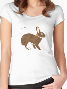 Chestnut Agouti Rabbit Women's Fitted Scoop T-Shirt