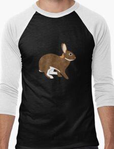 Chestnut Agouti Rabbit Men's Baseball ¾ T-Shirt
