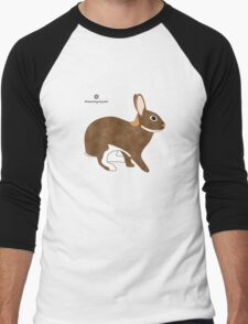 Chestnut Agouti Rabbit Men's Baseball ¾ T-Shirt