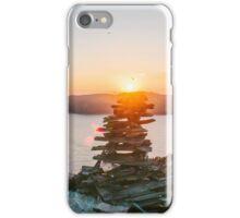 Spanish Head : Stone Balancing at Sunset iPhone Case/Skin