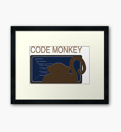 CodeMonkey Framed Print