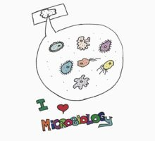 I love microbiology- school style Baby Tee