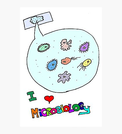 I love microbiology- school style Photographic Print