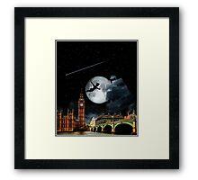 Sailing in the Night - Peter Pan London Scene Framed Print