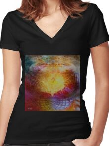 Clarity Prevails Women's Fitted V-Neck T-Shirt