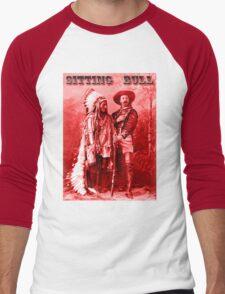 American Heros: Sitting Bull & Buffalo Bill Men's Baseball ¾ T-Shirt