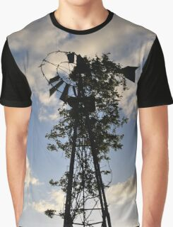 Ivy Covered Windmill Graphic T-Shirt