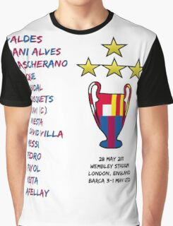 Barcelona 2011 Champions League Final Winners Graphic T-Shirt
