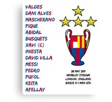 Barcelona 2011 Champions League Final Winners Canvas Print