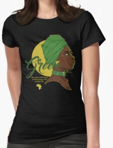 Green -  The color of fertility, productivity, and prosperity. Womens Fitted T-Shirt