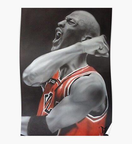 Jordan Airbrush Painting Poster