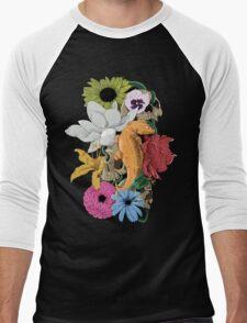 Lizards, Skulls & Flowers Men's Baseball ¾ T-Shirt