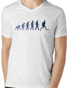 Funny Diving Evolution Shirt Mens V-Neck T-Shirt