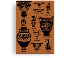Ancient Greek Pottery Silhouette Canvas Print