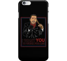 I want you to work for me iPhone Case/Skin