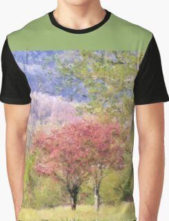 Valley Trees In Springtime Graphic T-Shirt