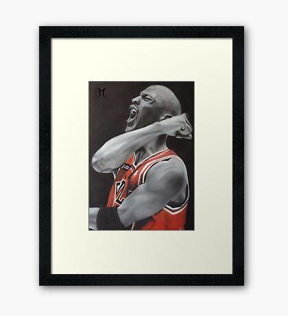 Jordan Airbrush Painting by Jmunz Framed Print