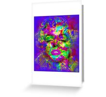 Pop Art, Colorful Abstract Retro Marilyn  Greeting Card