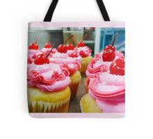 Pink Sprinkled Cupcakes Tote Bag