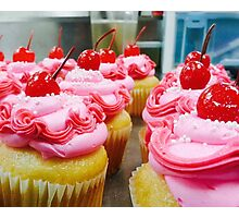 Pink Sprinkled Cupcakes Photographic Print