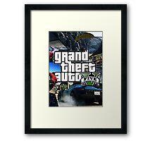 GTA V 5 Five AB4 Framed Print