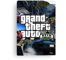 GTA V 5 Five AB4 Canvas Print