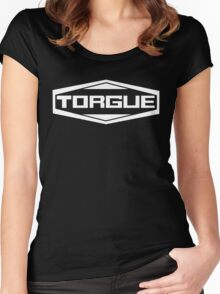 Torgue White Women's Fitted Scoop T-Shirt