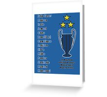 Inter Milan 2010 Champions League Final Winners Greeting Card