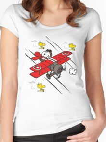 Snoopy Adventure Women's Fitted Scoop T-Shirt