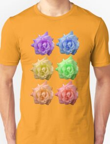 Row of Rose, Rainbow Unisex T-Shirt
