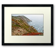 Colorful Cliffs at Point Reyes Framed Print