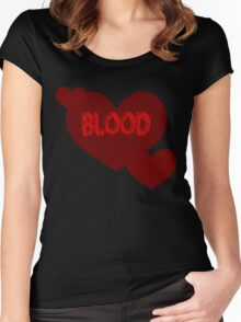Blood Hearts - Red Women's Fitted Scoop T-Shirt