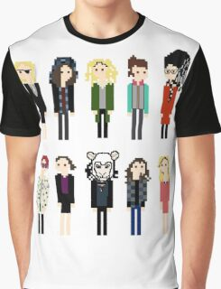 Pixel Sestras - 10 - Horizontal Graphic T-Shirt