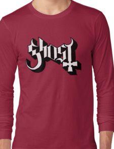 Ghost (Ghost BC) White/Black HD Logo Long Sleeve T-Shirt