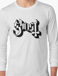Ghost (Ghost BC) White/Black HD Logo Long Sleeve T-Shirt