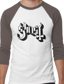 Ghost (Ghost BC) White/Black HD Logo Men's Baseball ¾ T-Shirt