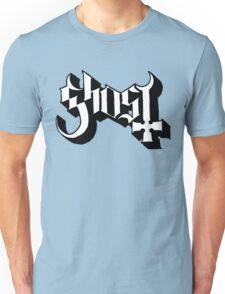 Ghost (Ghost BC) White/Black HD Logo Unisex T-Shirt