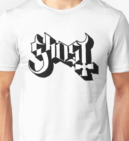 Ghost (Ghost BC) White/Black HD Logo Unisex T-Shirt
