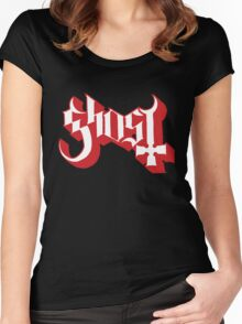 Ghost (Ghost BC) Red HD Logo Women's Fitted Scoop T-Shirt