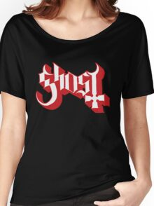 Ghost (Ghost BC) Red HD Logo Women's Relaxed Fit T-Shirt
