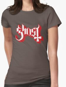 Ghost (Ghost BC) Red HD Logo Womens Fitted T-Shirt